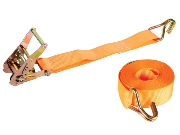 RATCHET TIE-DOWN WITH HOOKS - MAX. 1000kg - 9m x 50mm