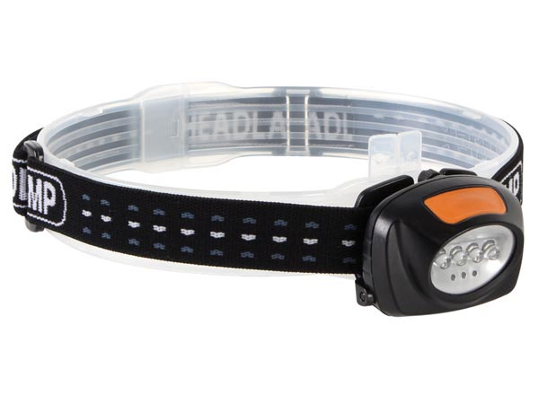 2-in-1 LED HEADLAMP WITH 4 WHITE AND 3 RED LEDs