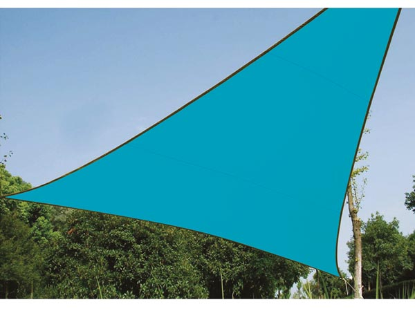 Shade Sail - Triangle 3.6 X 3.6 X 3.6m Sky Blue
