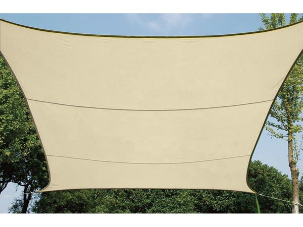WATER-PERMEABLE SHADE SAIL - SQUARE 5 x 5m, COLOUR: BEIGE