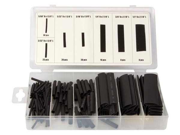Heat Shrink Tubing Assortment - 127 Pcs
