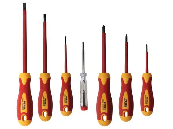 SET OF 6 INSULATED SCREWDRIVERS + VOLTAGE TESTER