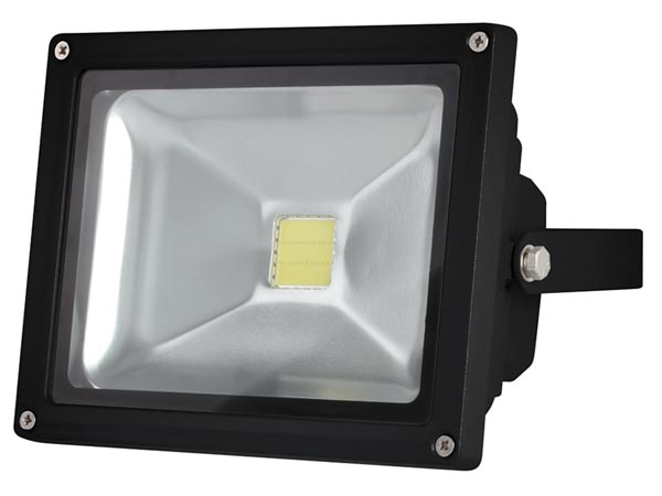 Välitingimuste LED-prozektor - 20W EPISTAR CHIP - 6500K -must