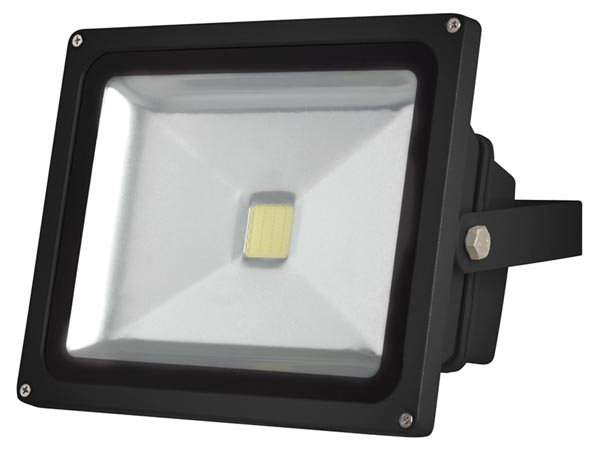 Välitingimuste LED-prozektor - 30W EPISTAR CHIP - 3000K - must