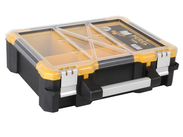 PLASTIC STORAGE CASE WITH REMOVABLE BINS - 15