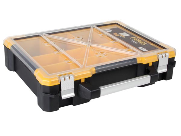 PLASTIC STORAGE CASE WITH REMOVABLE BINS - 19