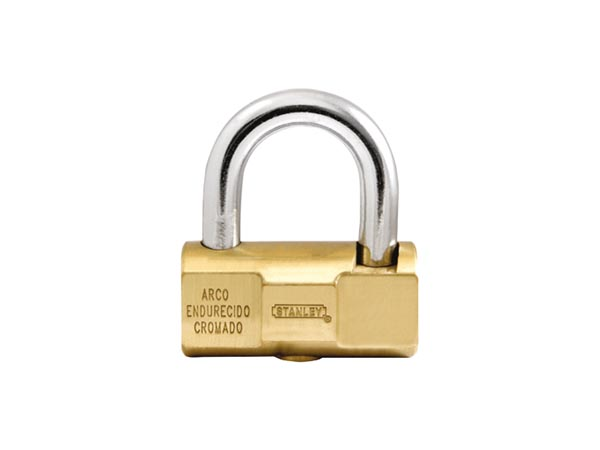 STANLEY - HIGH SECURITY BARREL PADLOCK - SOLID BRASS - 40 mm