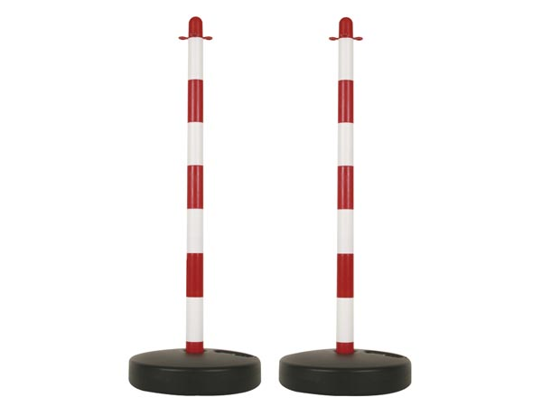 PLASTIC POST FOR SECURITY CHAIN - 2pcs
