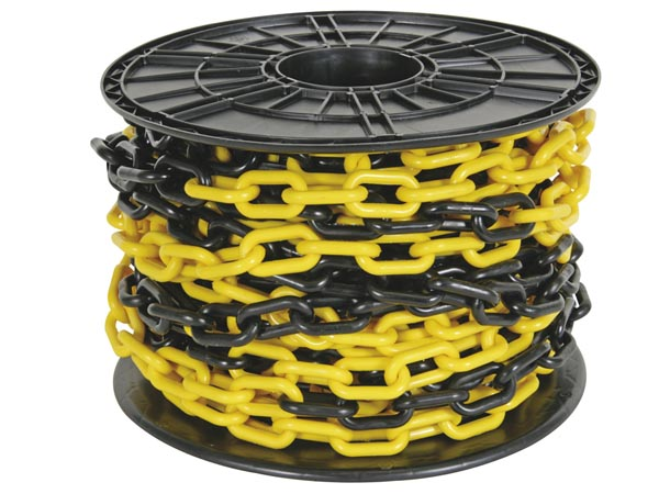 YELLOW/BLACK CHAIN 8mm ON REEL - 25m