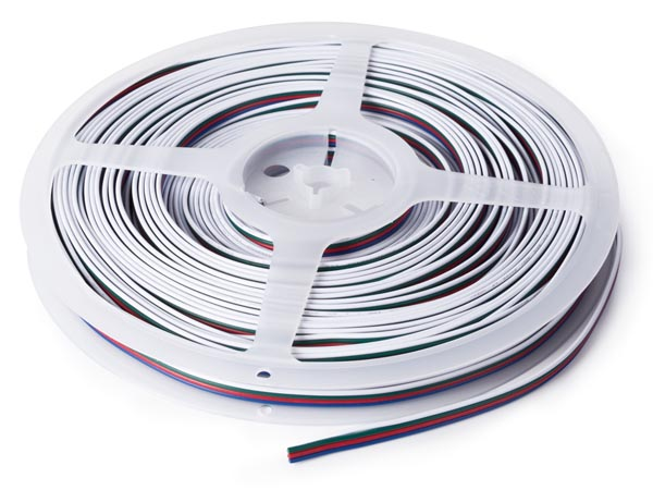 4-conductor RGB Wire For LED StrIPS (25 M) 4 X 0.33 Mm�