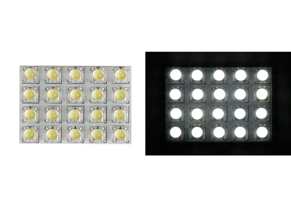 Module Declairage - LED Blanches + Diffuseur Rond - 12v - 50 X 35mm