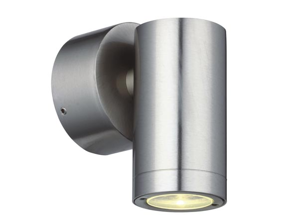 Lampe d 39 ext rieur murale led acier inoxydable 230 v for Norme ip44 exterieur