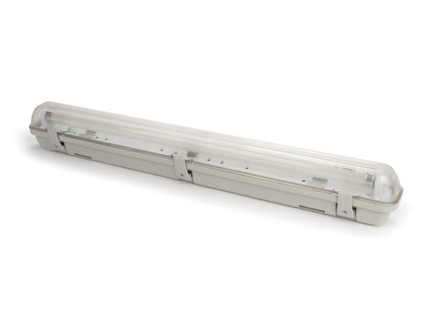 WATERPROOF FIXTURE WITH T8 LED TUBE - 65.5 cm - NEUTRAL WHITE