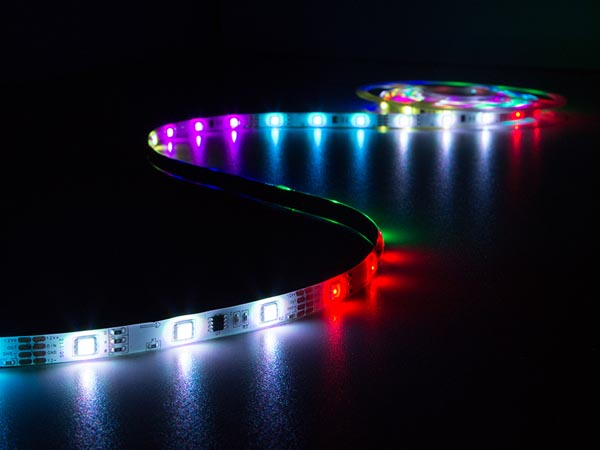 KIT WITH DIGITAL ANIMATED FLEXIBLE LED STRIP, CONTROLLER AND POWER SUPPLY - RGB - 150 LEDs - 5 m - 12 VDC
