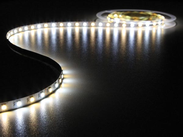 FLEXIBLE LED STRIP - COLD AND WARM WHITE - 300 LEDs - 5m - 24V
