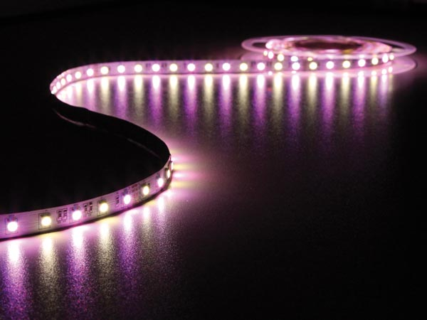FLEXIBLE LED STRIP - RGB AND WARM WHITE 3500K - 300 LEDs - 5 m - 24 V