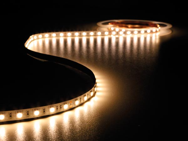 FLEXIBLE LED STRIP - WARM WHITE 2400K - 300 LEDs - 5m - 24V