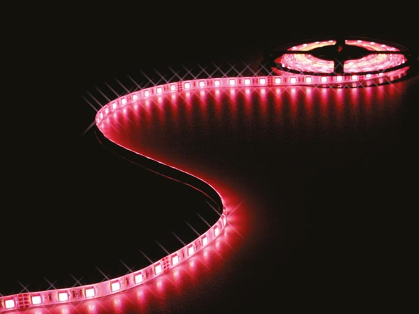FLEXIBLE LED STRIP - 1 CHIP RGB AND WARM WHITE 3500K - 300 LEDs - 5 m - 24 V