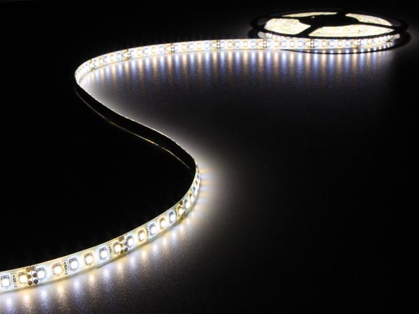 Flexible LED Strip - Cold & Warm White - 600 LEDs - 5m - 12v