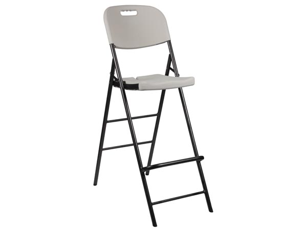 Folding Bar Stool With Back Rest