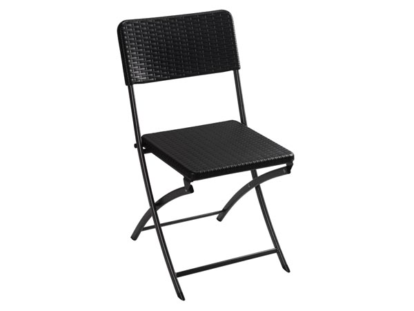 Foldable Chair With Rattan Pattern