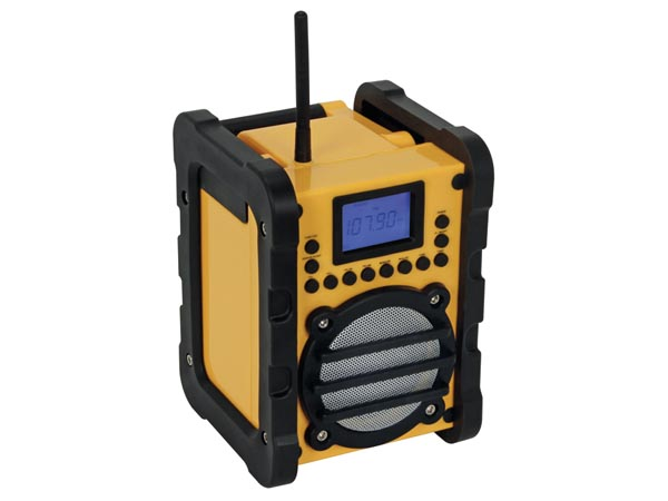 HEAVY-DUTY WORKSITE PLL RADIO - WITH WIRELESS BLUETOOTH CONNECTION