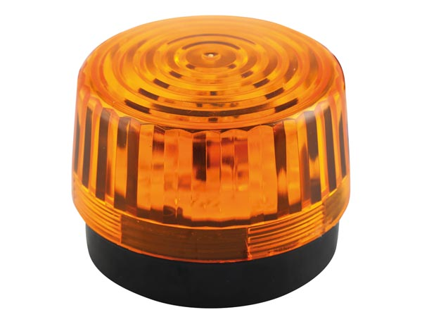 Led Flashing Light - Amber - 12v Dc - ? 100mm