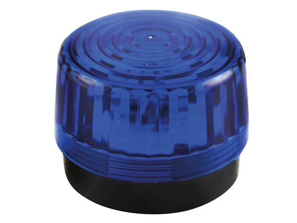 Led Flashing Light - Blue - 12v Dc - ? 100mm