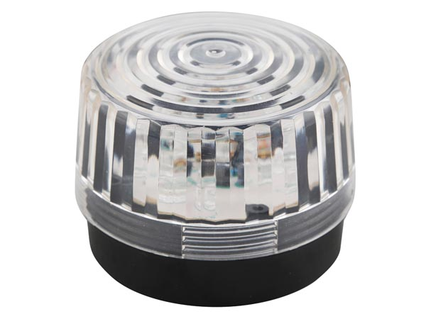 Led Flashing Light - Clear - 12v Dc - ? 100mm