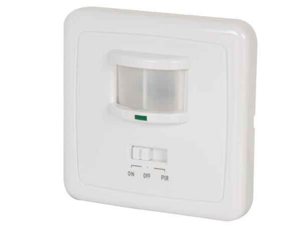 PIR MOTION DETECTOR - FLUSH MOUNTING