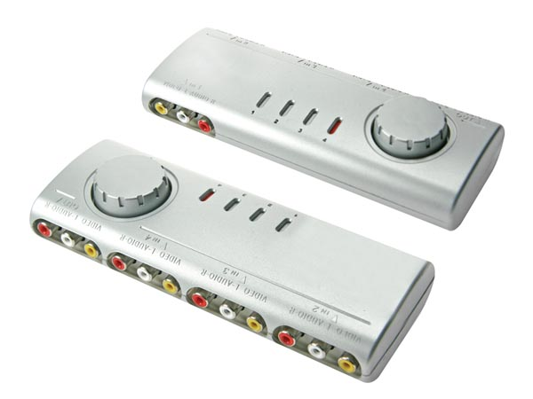 AUDIO/VIDEO SELECTOR - 4 INPUTS AND 1 OUTPUT