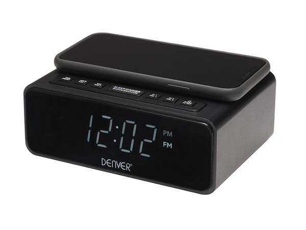Crq-105 Fm Clock Radio With Qi Charging