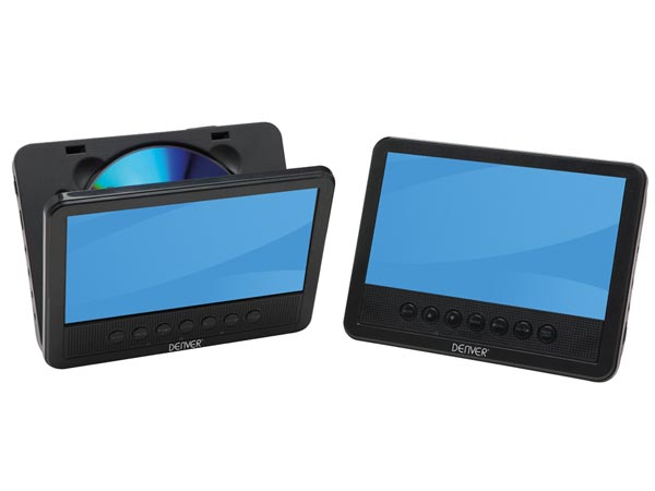Mtw-756twin Nb - Portable DVD-player With 7in LCD Display + Extra Display