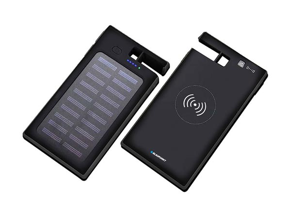 Solar Power Bank With Wireless Charging Function And Suction CUPS - 8000 Mah