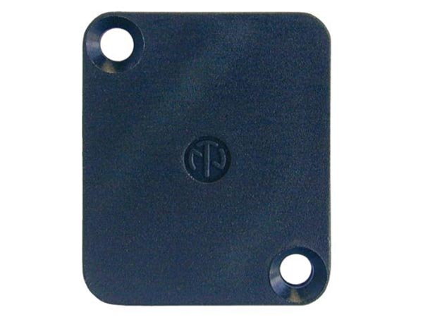 NEUTRIK - DUMMY PLATE TO COVER D-CONNECTOR CUTOUTS - BLACK