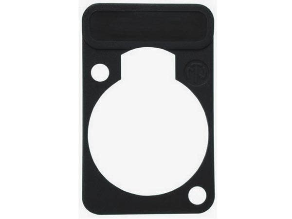 NEUTRIK - LETTERING PLATE FOR D-CONNECTORS - BLACK