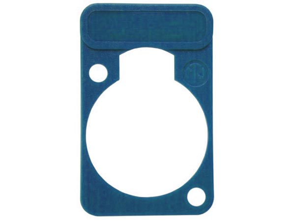 NEUTRIK - LETTERING PLATE FOR D-CONNECTORS - BLUE