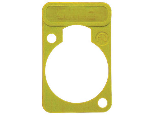 NEUTRIK - LETTERING PLATE FOR D-CONNECTORS - YELLOW