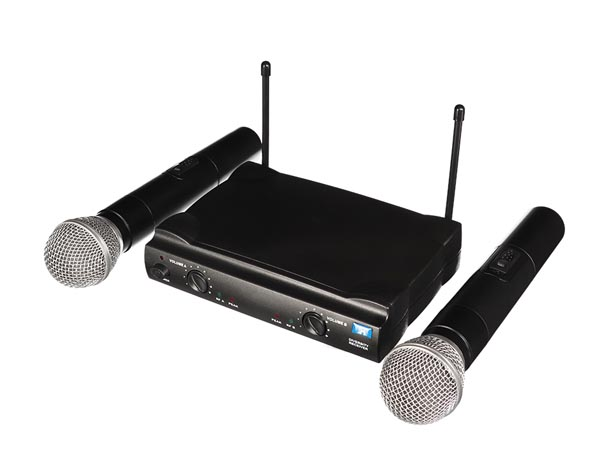 UHF WIRELESS  MICROPHONE - DUAL CHANNEL