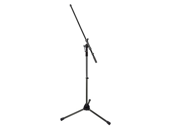 TELESCOPE MICROPHONE STAND - BLACK