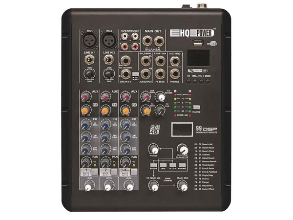 HQ MX4 - COMPACT 4 CHANNEL MIXER