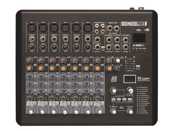 HQ MX8 - COMPACT 8 CHANNEL MIXER
