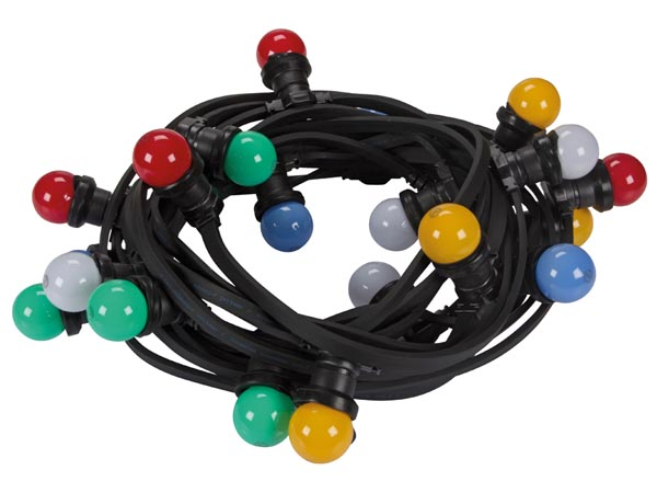 LED PARTY LIGHT CHAIN with 20 COLOURED LED LAMPS