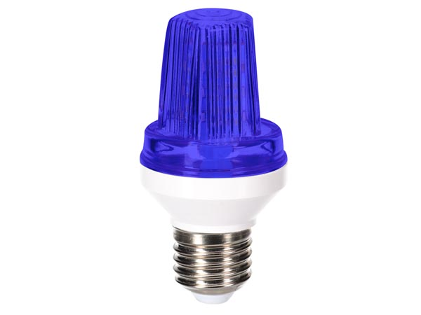MINI LED STROBE LAMP - E27 SOCKET - 3 W - BLUE