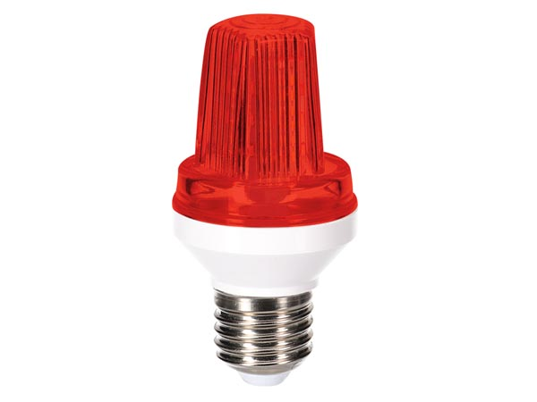 MINI LED STROBE LAMP - E27 SOCKET - 3 W - RED