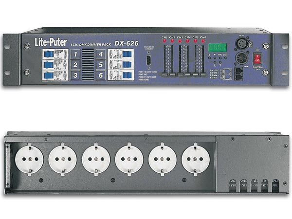 6-CHANNEL DIMMER PACK, 20A/CHANNEL