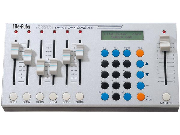 6-channel Dmx DIMMing Console