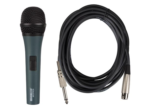 Professional Dynamic Black Microphone With Carry Case