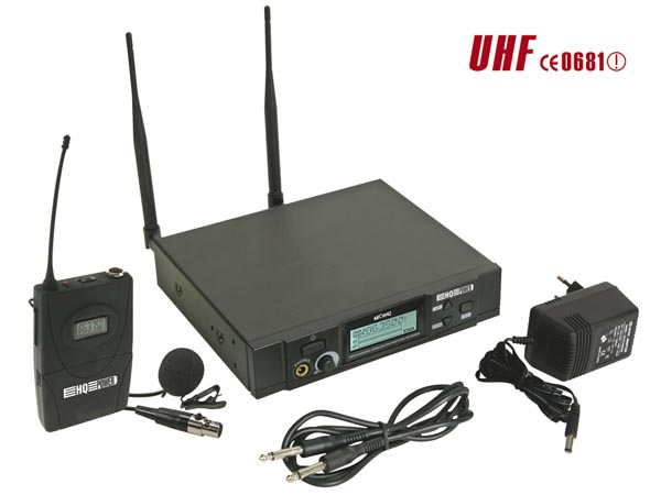 Pll Wireless 8-channel Uhf True Diversity - Body-pack Transmitter + Lavalier  Microphone - With LCD