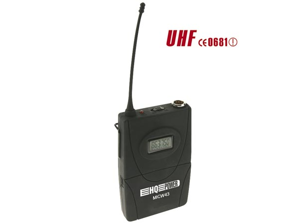 BODY-PACK TRANSMITTER  FOR MICW40 - 41 - 42